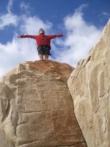 guy on rock